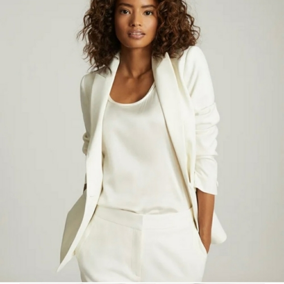Winter white tuxedo jacket